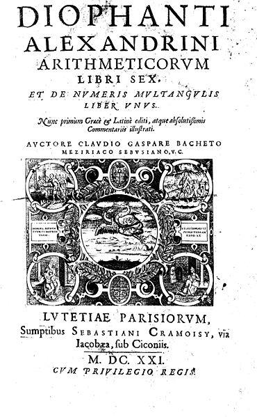 Arithmetica Diophantus Diophant von Alexandrien