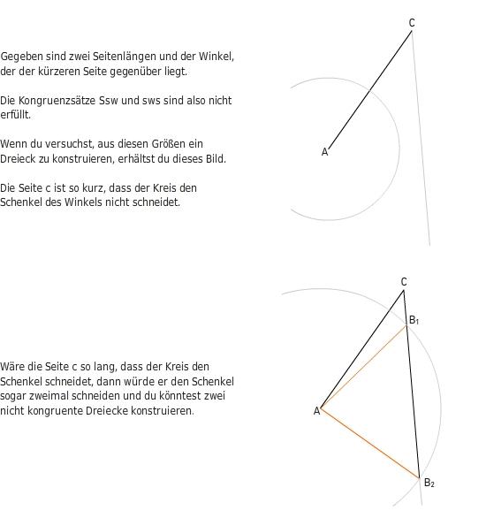 Dreieckskonstruktionen und Kongruenzsätze - bettermarks