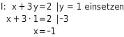 kem LGuU LGuUELGSEsv 13 Einsetzungsverfahren zum Lösen linearer Gleichungssysteme