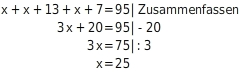 kem LGuU LGuULGAnw 1 Anwendungen zu Gleichungen