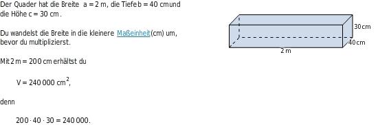 Mantel quader formel