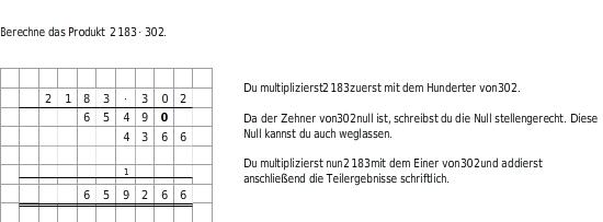Schriftliche Multiplikation - bettermarks