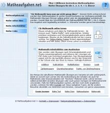 matheaufgaben net Matheaufgaben.net